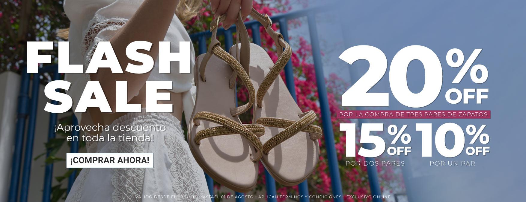 Aprovecha el descuento en calzado para hombre, mujer y niños, el descuento progresivo hasta del 20% OFF a cada tres pares de zapatos colombia que compres.